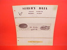 1960 LINCOLN CONTINENTAL MARK V PHILIPS TRAVEL TUNER AM RADIO SERVICE MANUAL 60
