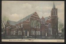 Postcard Franklin Pennsylvania/Pa Baptist Church w/Tall Bell Tower view 1906