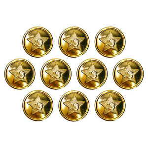 10-100 BUTTONS FROM THE SOVIET UNION. 14-22MM. GOLD STAR WITH HAMMER AND SICKLE