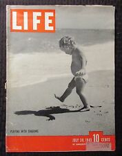 1945 LIFE Magazine July 30 G/VG 3.0 Playing With Shadows WWII