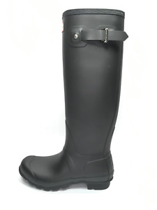 Hunter 'Original Tall' Rain Boot Women's ( Matte ) - Black [US 8]