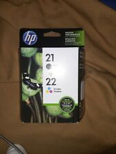 HP 21 22 Black & Tri-Color Ink Cartridge Combo C9509FN Genuine New Free Shipping