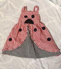 samara gingham ladybug dress