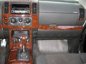 2005 06 2007 INTERIOR BURL WOOD DASH TRIM KIT SET FOR NISSAN PATHFINDER 2WD 4WD