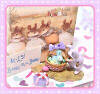❤️Wee Forest Folk M-251 Bunny in a Basket Lavender Purple Easter Retired WFF❤️