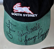 South Sydney Rabbitohs Cap Signed by George Piggins John Sattler N Pappas C Wing