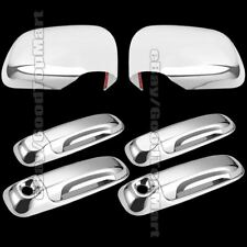 Chrome Cover Full Mirrors + 4 Door Handles Keyholes For 2004-2010 Dodge DURANGO