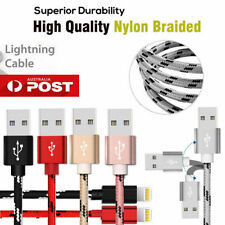 USB Braided Charger Cable For iPhone 5 5S 6 7 8 2M 3M Long Data Sync iPad iPod