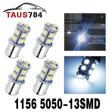 4x Cool White 1156 BA15S 13-SMD Car RV Tail Backup LED Light Bulb 1141 1073 1003
