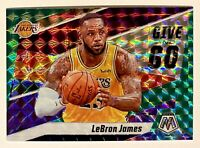 2019-20 Mosaic LeBron James Give & Go Green Prizm Refractor SP Insert #8 Lakers