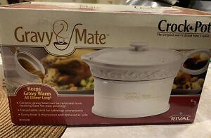 Rival Crock Pot Gravy Mate Microwave Gravy Warmer Electric