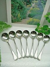 New listing 7 Oneida Community Patrick Henry Stainless Steel Round Gumbo Soup Spoons