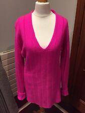 Donna Karan New York Luxurious Cashmere  V Neck Jumper Size M VGC & HTF
