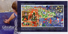Gibraltar 2014 FDC Christmas Art 1v M/S Cover Father Christmas Tree Stamps