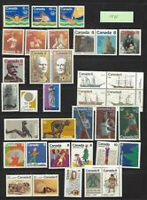 CANADA Postage Stamps,1975 Complete Year Set collection, NH, MNH.