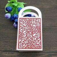 Rose Pattern 3D Bag Metal Cutting Die Scrapbooking Embossing Dies Stencil Crafts