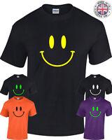 SMILEY FACE T-Shirt Mens Womens Acid 90's retro rave festival house techno base