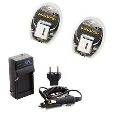 TWO 2 Batteries + Charger for Casio EX-Z85EO EX-Z85PK EX-Z85BE EX-Z85SR EX-Z90