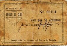 España  Guerra Civil     BC/F Pueblo de Ceuti-Murcia / 50 centimos   1937 serie
