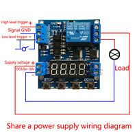 6-30V Trigger Delay Cycle Timer 1-Channel Relay Module Circuit Switch