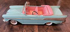 Vintage Barbie 57 Chevy Bel Air Convertible Car Mattel Turquoise & Pink 1988