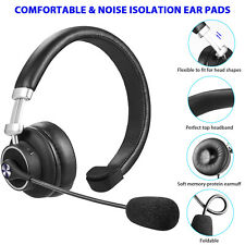 Truker Bluetooth Headset with Microphone Mute Button Noise Canceling for Phones
