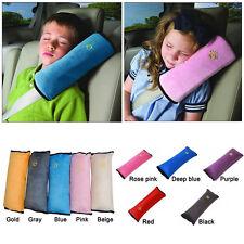 Baby Kinder Auto Sicherheitsgurt Kissen Nackenstütze Schlafkissen Einsteller Rot
