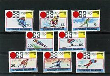 RWANDA 1972 Sc#436-443 WINTER OLYMPIC GAMES SAPPORO SET OF 8 STAMPS MNH