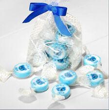 NEW BLUE & WHITE IT'S A BOY ROCK SWEETS BABY SHOWER BOY STRAWBERRIES & CREAM