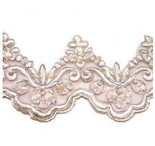 Lace Trim BULK - Pink embellished Lace Trim BULK 11m