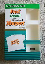 Newport Cigarette Promo T Shirt White Neon X-Large Vintage 80s 90s NEW
