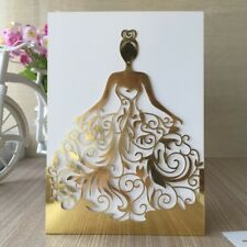 50pc Laser Girl Wedding Invitation Cards Handmade Invitations and inner sheet