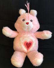 "Vintage Care Bears Plush Handmade Pink Love A Lot Stuffed Bear 1980's Rare 18"""