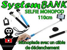 Monopode avec Câble Fil Bras Télescopique Perche à Selfie IPHONE SAMSUNG LG HTC