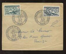 France 1952 CROIX-ROUGE cherub set fdc... Exposition postmark