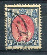 PAYS-BAS - 1908-22, timbre 76A, WILHELMINE, oblitéré
