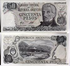 ARGENTINE billet neuf 50 PESOS BELGRANO Pick301a  SANS FILAMENTS COLORES