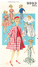 "9993 Vintage Slender Fashion Doll Pattern - Size 11.5"" - Year 1960"