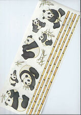 PANDA'S - TUMBLEBEASTS CLEAR STICKER SHEET INC BAMBO BORDERS & VARIETY OF PANDAS