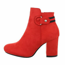 Classic Boots Ankle Boots Women's Shoes Designer New Size 39 Red 0377