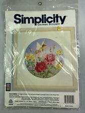 Vintage New Simplicity Colorart Stitchery: The Faerie Fairy Embroidery Kit Roses