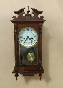 Retro Lincoln 31 Day Wind-Up Striking Wall Clock in Very Gd Cond'.  (Hospiscare)