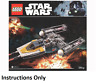 NEW INSTRUCTIONS ONLY LEGO Y-WING STARFIGHTER 75172 manual book from set