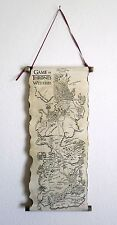 Game of Thrones Westeros Map The North and The South on Handmade Scroll GoT Map