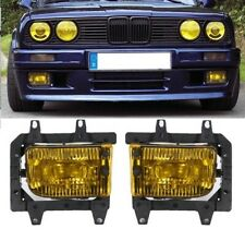 Pair GLASS foglamps foglights fogs Fog yellow BMW E30 facelift 1988- E marked