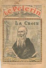 Portrait Père Vincent de Paul Bailly Fondateur La Croix Le Pèlerin Presse 1932