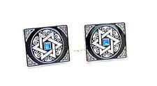 Tallit Clips Jewish Judiaca Talis / Tallis Israel with Blue Stone