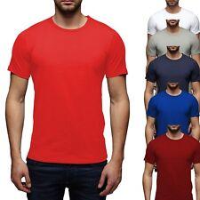 Jack & Jones Herren Basic O-Neck T-Shirt Rot Blau Grau Grün S M L XL 2XL 3XL