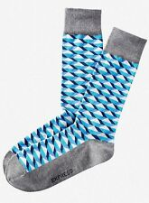 NWT EXPRESS MEN'S Geo Print Dress SOCKS Blue 2019 822