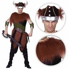 Mens Viking Man Fancy Dress Costume Medieval Halloween Warrior Outfit